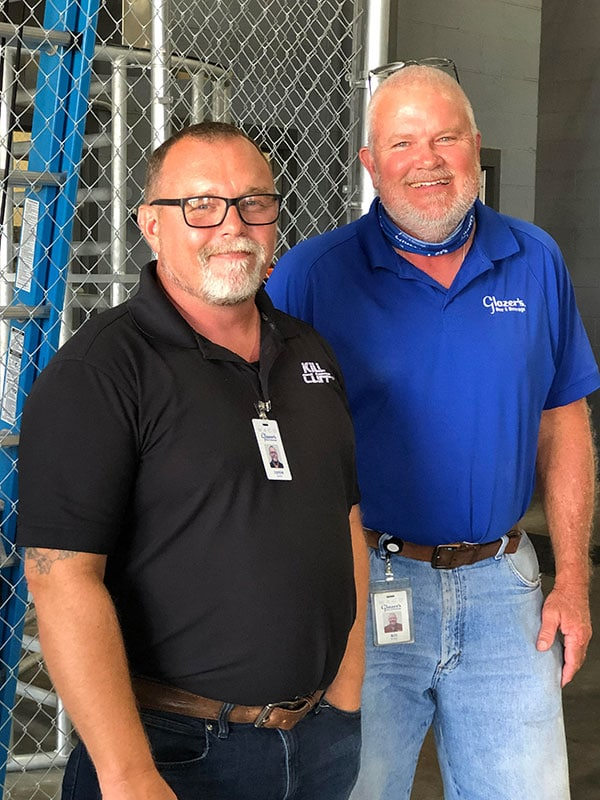Jamie Sparks, Glazer's Office Manager and Bill Butler, Logistics