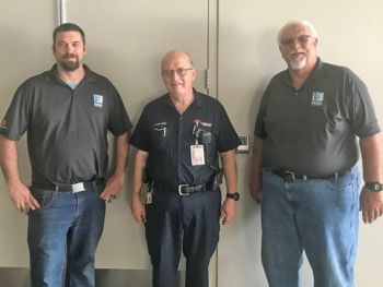 From left to right: Zack Holden (Kenton Brothers), David Mullins (Bartle Hall) and Bill Harris (Kenton Brothers)