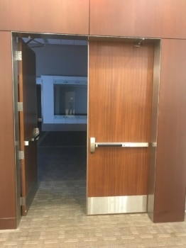 Bartle Hall - Door with Exit Bars